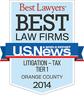 Best Law Firms USNEWS - Orange County Litigation - Tax