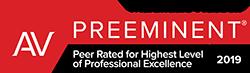 Peer Rated for Highest Level of Professional Excellence - AV