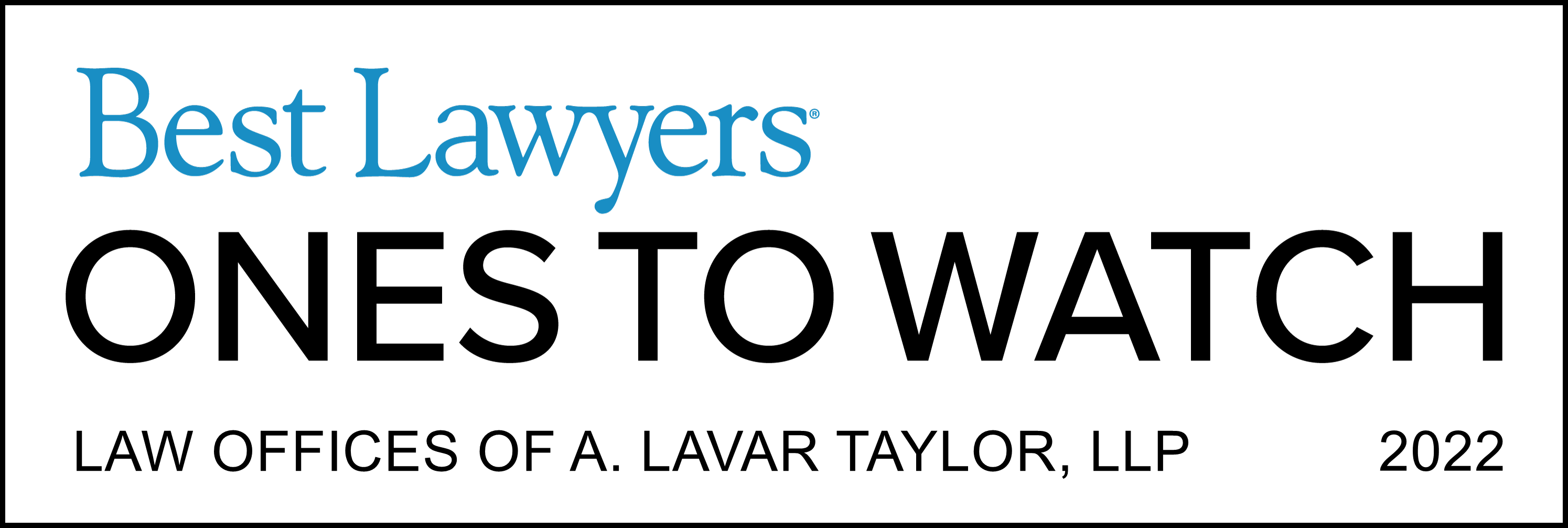 A. Lavar Taylor awarded Ones to Watch