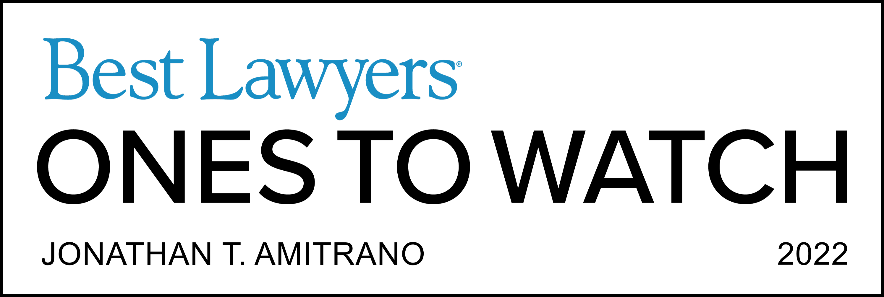 Best Lawyers Ones To Watch - Jonathan Amitrano