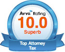 Avvo Rating - 10.0 Superb for Jonathan Amitrano